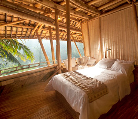 Bedroom in Eco Friendly Sustainble Bambo House. Bedroom in Eco Friendly Sustainble Bambo House   Harmonious Earth