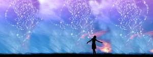 Silhouette of a Girl with light coming from her heart Shifting To 5th Dimension / 4th Density