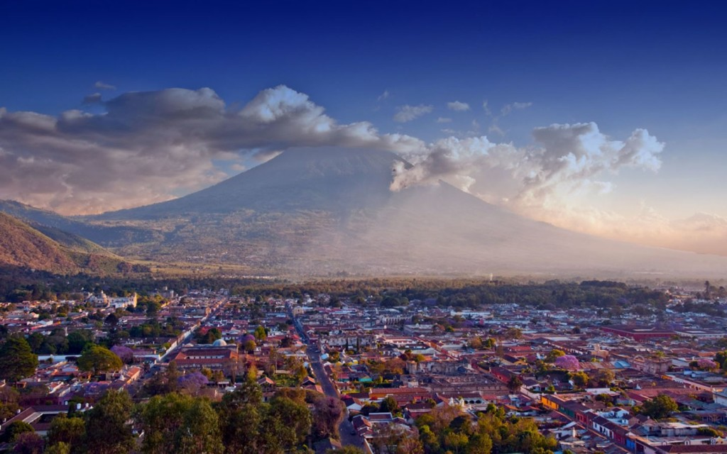 Beautiful view of Antigua Guatemala, Minor Vortex of Earth