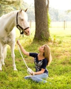 Shelly with Horse