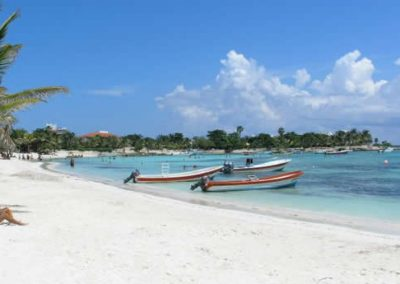 Akumal Beach with Boats