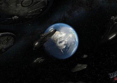 Earth in the center of Ships