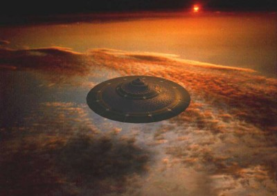 Flying Saucer Over Earth