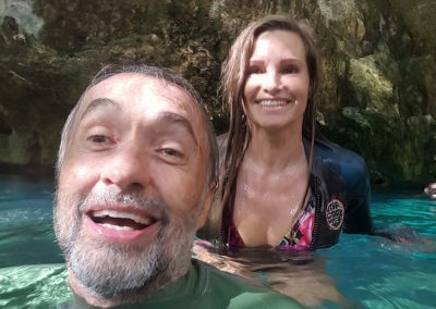 Kirk and Sandra in Cenote