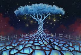 Lucid Dreaming Blue Tree
