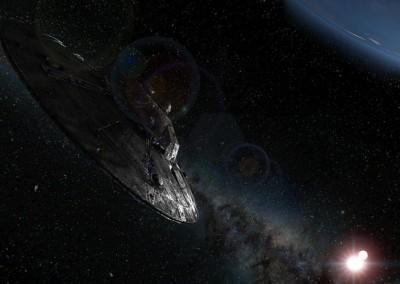Saucer Heading towards Earth