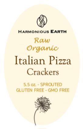 Italian Pizza Cracker Front Label