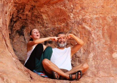 Kirk and Bridget in the Womb Cave Sedona