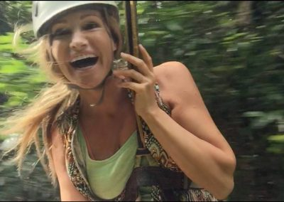 Sandra on Zip Line