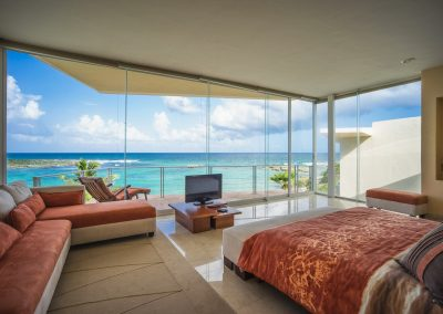 Villa Gauguin BR 1 Master bedroom has ocean views, private bath and balcony